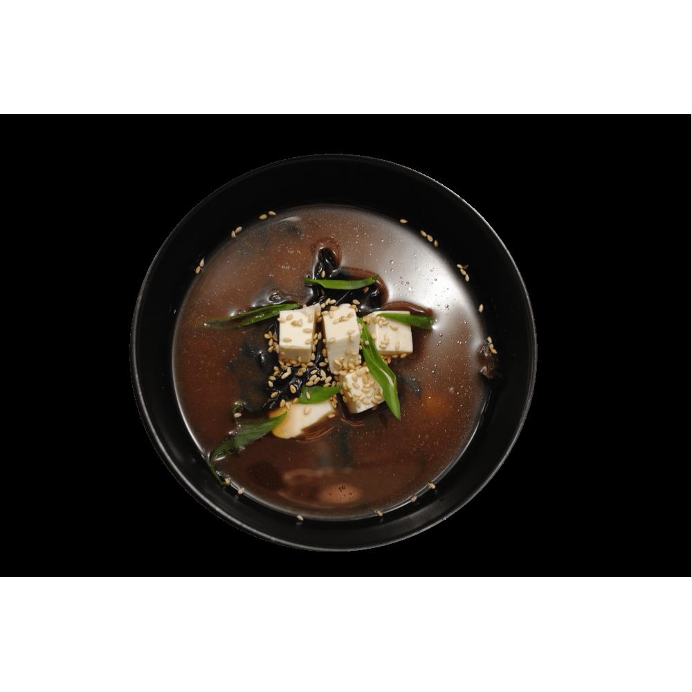 Суп місо з тофу та вакме